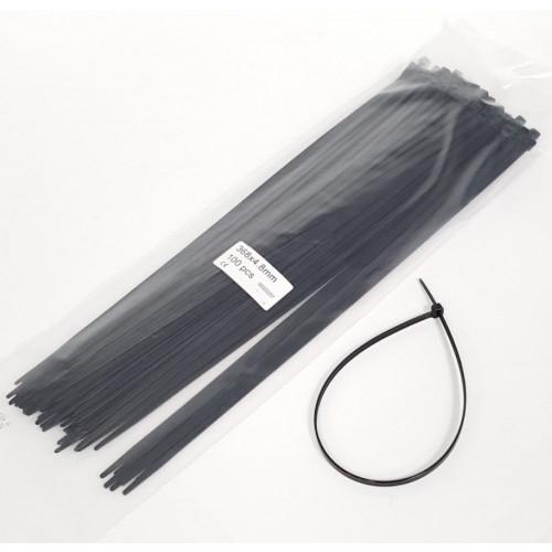 CABLE TIES - 368mm x 4.8mm BLACK NYLON (BAG OF 100)
