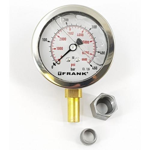 PRESSURE GUAGE 63mm - 0 to 460BAR FOR FRANK c/w N&O