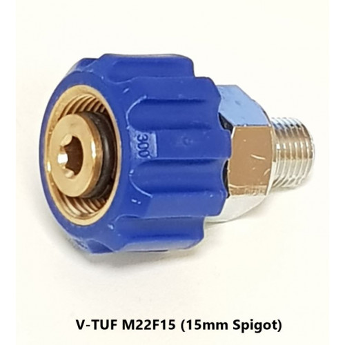 M22F15 x 1/4M SCREW COUPLING