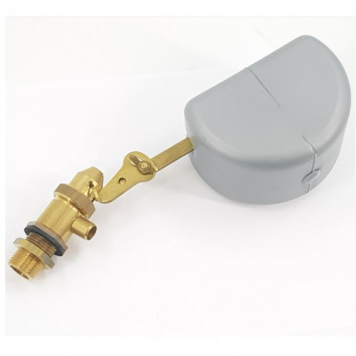 FLOAT VALVE & WATER TANK, BRASS, 1/2M PANEL MOUNT