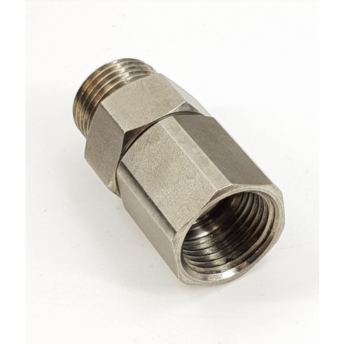 SWIVEL - 1/2M x 1/2F COMPACT STRAIGHT - STAINLESS STEEL