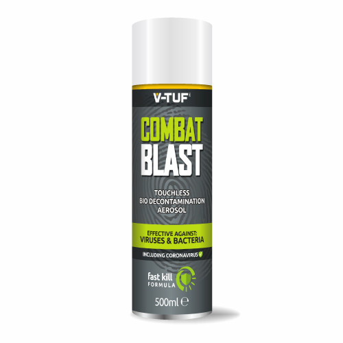 V-TUF COMBAT BLAST AntiViral AntiBacterial Vehicle Cleaning & Sanitising Aerosol Spray - 500ml