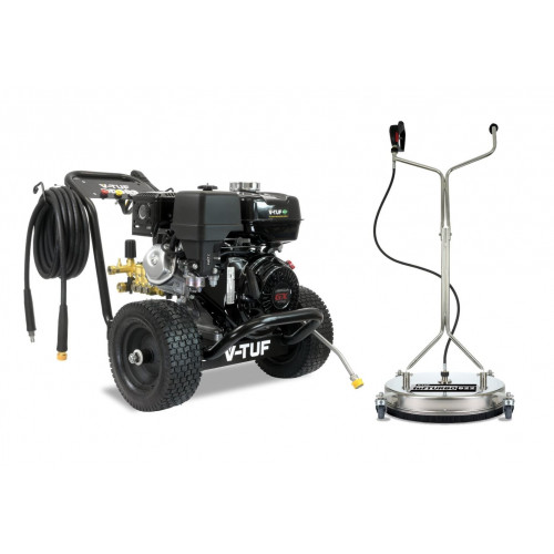 """DD080 Industrial 9HP Honda Driven Petrol Pressure Washer - 2900psi, 200Bar, 15L/min & 21"""" Stainless Steel Surface Cleaner"""