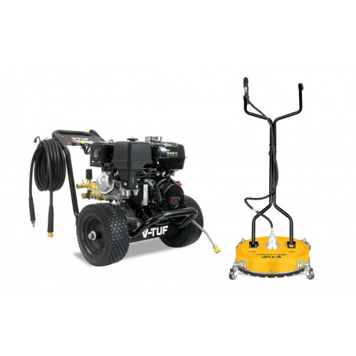 """DD080 Industrial 9HP Honda Driven Petrol Pressure Washer - 2900psi, 200Bar, 15L/min + 19"""" POLY DECK SURFACE CLEANER"""