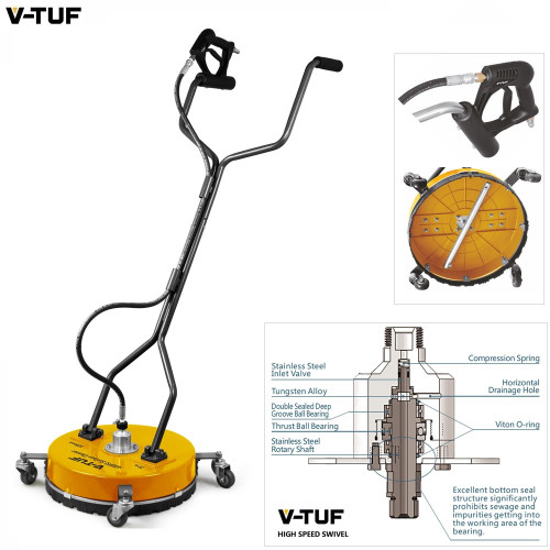 """SURFACE CLEANER - 20"""" 500mm Heavy Duty Spinning - with Poly Deck & Advanced V-Spin Technology - H1.006"""