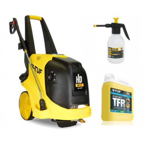 HD140HOT 240v Hot Water Professional Mobile Pressure Washer - 2000psi, 140Bar, 9L/min - Spill Clean up kit