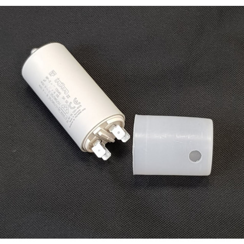 CAPACITOR WITH TERMINALS, 25 mfd