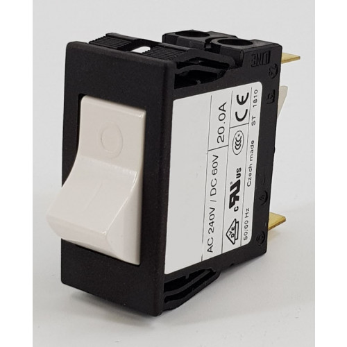 SWITCH - LRS TYPE ROCKER 20 AMP THERMAL OVERLOAD