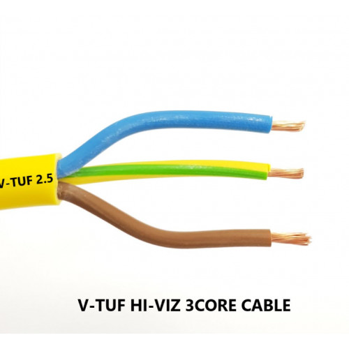 CABLE 3 CORE V-TUF PVC 2.5 YELLOW (per meter)