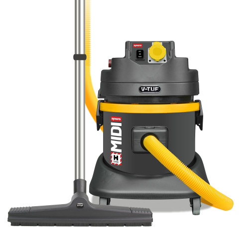MIDI SYNCRO - 21L H-Class 110v Industrial Dust Extraction Vacuum Cleaner - with Power Take Off - MIDI S110