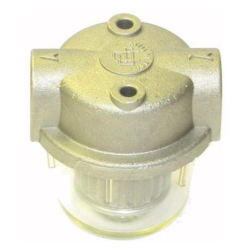 FUEL FILTER - ALUMINIUM & CLEAR BOWL - 1/4F x 1/4F