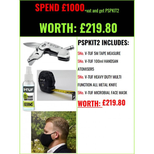 PROMO SUPPORT PACK 2 (FREE with spend over £1000 + VAT)