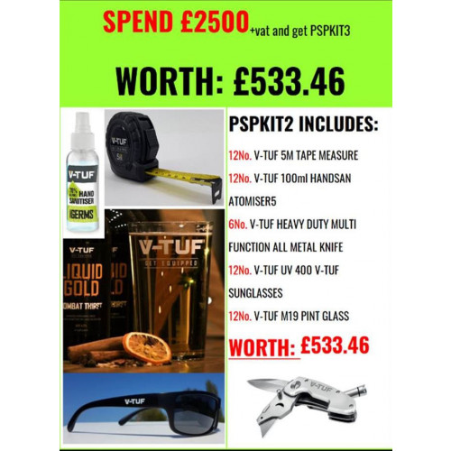 PROMO SUPPORT PACK 3 (FREE with spend over £2500 + VAT)