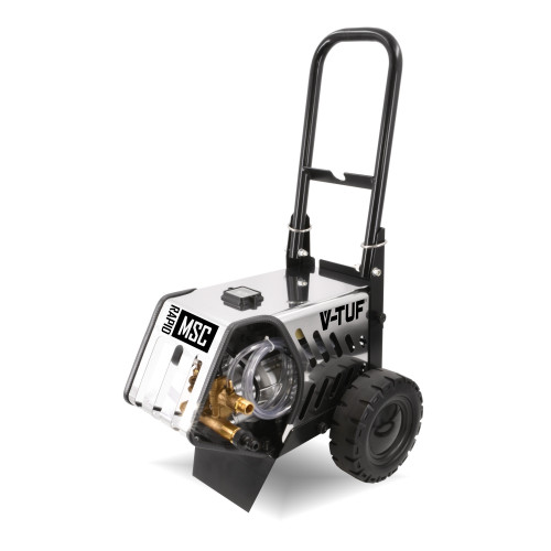 RAPIDMSC 240v MOBILE COLD PRESSURE WASHER with STAINLESS COVER 130 BAR @ 9 L/M.