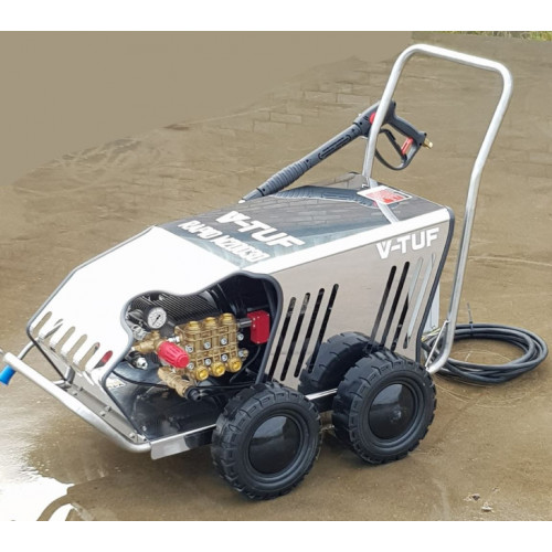 415v MOBILE COLD PRESSURE WASHERS 200 BAR @ 30L/M. STAINLESS COVER