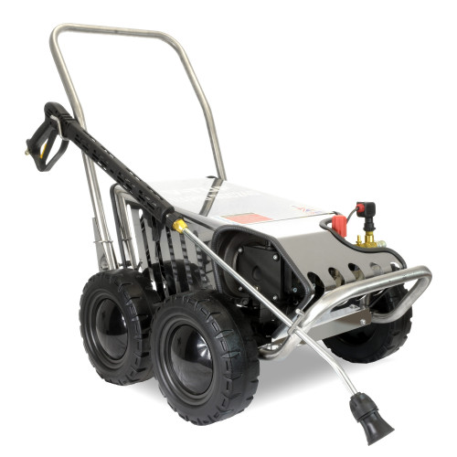 V-TUF RAPIDSSC 415v All-Stainless Industrial Mobile Pressure Washer - 3000psi, 200Bar, 15L/min (with Total Stop)