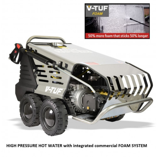 V-TUF RAPID VSCF 240v Hot Water Stainless Industrial Pressure Washer with COMMERCIAL FOAM SYSTEM