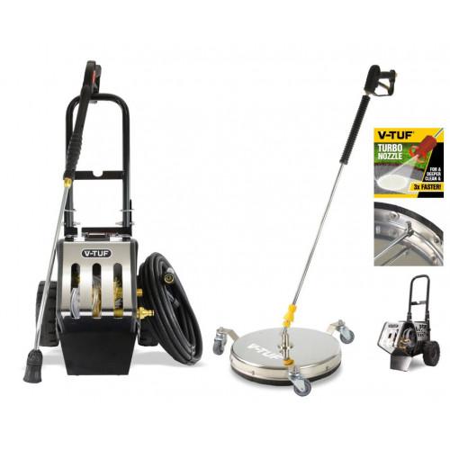 RAPID MSC - 240v Professional Mobile Electric Pressure Washer + 410mm Surface Cleaner Kit