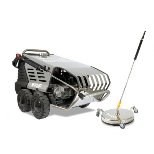 RAPID MSH 240v Professional Hot Water Industrial Mobile  Pressure Washer - 1900psi, 130Bar, 10L/min & 410mm tufTURBO SURFACE CLEANER