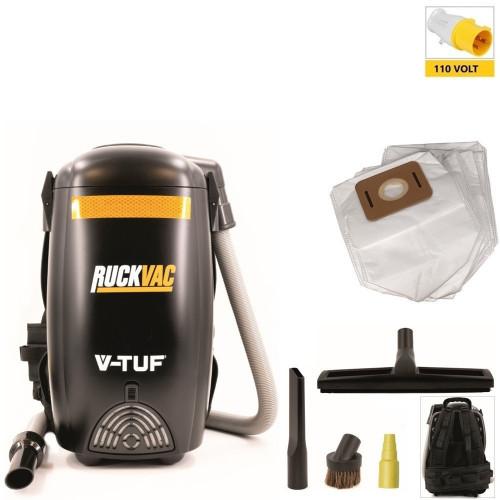 V-TUF RuckVac 110v Industrial Backpack Vacuum Cleaner - with Lung Safe Hepa H13 Filtration
