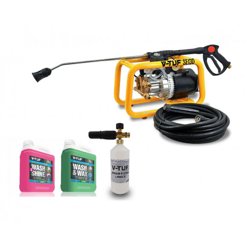 V-TUF SE130 HEAVY DUTY ELECTRIC PRESSURE WASHER -  VALETING BUNDLE KIT 2