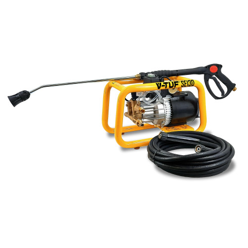 SE130 - 240v Semi-Professional Static Electric Pressure Washer - 1750psi, 120Bar, 9L/min
