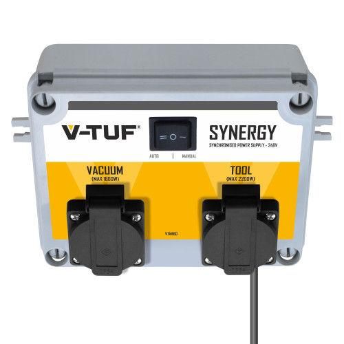 V-TUF SYNERGY - 240v Autoswitch Workshop Tool & Vacuum Syncing Switch