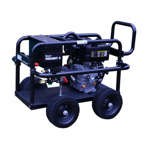 V-TUF TORRENT5GB-21 Industrial 10HP Gearbox Driven Diesel Pressure Washer - 2200psi, 150Bar, 21L/min (Electric Key Start)