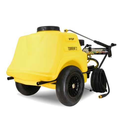 "TORRENT2 7HP Mini-Bowser Petrol Pressure Washer 190 Bar, 13L/min + 20"" POLY DECK SURFACE CLEANER"