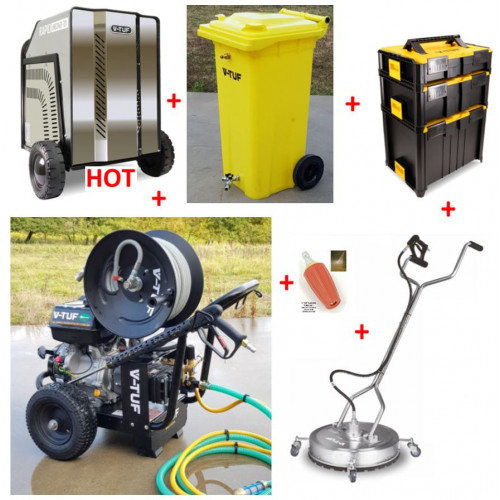 TORRENT 3 15HP PETROL PRESSURE WASHER 21L/MIN & HOT BOX KIT6 - BUNDLE