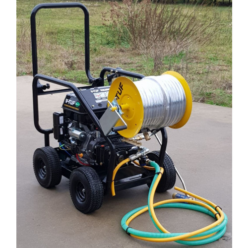 TORRENT3RGB-21HR 15HP PETROL PRESSURE WASHER H.FLOW with 40m hose reel.