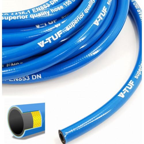 """V-TUF Smooth Cover BLUE 1 WIRE 1/4"""" HOSE (Per metre)"""