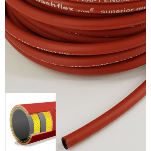 "2 WIRE, 3/8"" 155°C  V-TUF SMOOTH RED JETWASH DN10 (Per metre)"