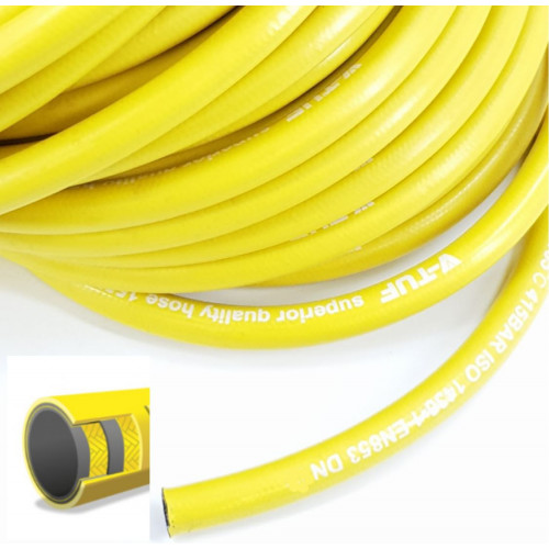 "2 WIRE, 3/8"" 155°C  V-TUF Smooth Cover YELLOW JETWASH (Per metre)"
