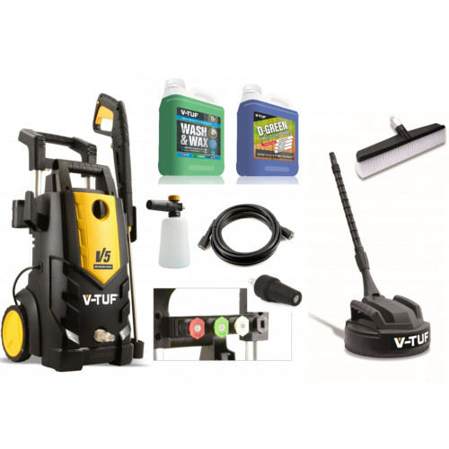 V-TUF V5 2400psi Electric High Power Pressure Jet Washer (Patio & Car Cleaner Included)