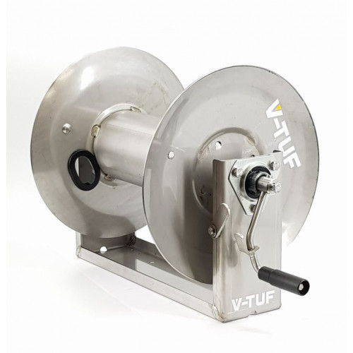 MANUAL WIND STAINLESS SR V-TUF HOSE REEL - 60m