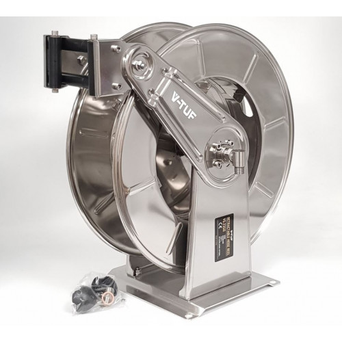 35M V-TUF Retractable Hose Reel - Stainless Steel
