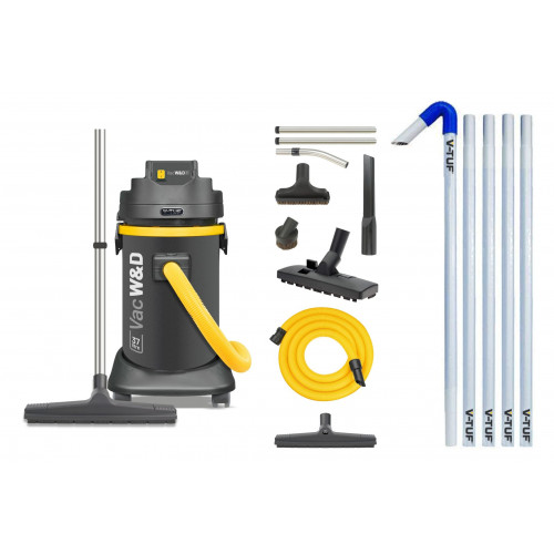 V-TUF VACW&D240 1250W (37L) Industrial Gutter Cleaning Kit (20ft)