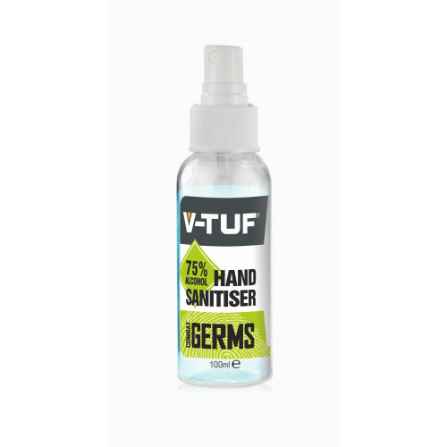 V-TUF 100ML 75% ALCOHOL HAND & SURFACE SANITISER SPRAY - VTCG1100