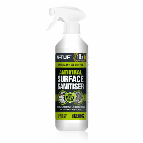 V-TUF ANTIVIRAL 1L HEAVY DUTY SURFACE SANITISER, DISINFECTANT & CLEANER - 10X CONCENTRATED - With Trigger Spray - VTC720-1L