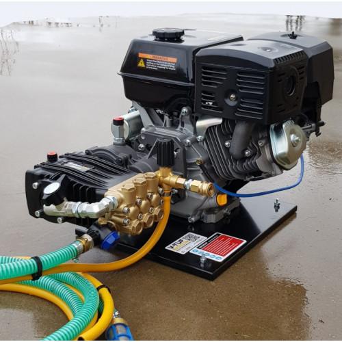 PETROL ENGINE (15HP) ELECTRIC START & PUMP UNIT - 200BAR 21 L/Min