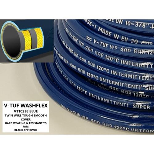 """2 WIRE, 3/8"""" V-TUF TOUGH COVER BLUE - DN10 (Per metre)"""