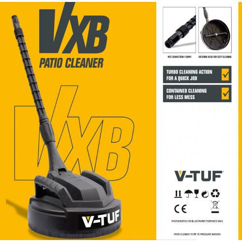 V-TUF VXB 280MM PATIO CLEANER - NEW DEEP CLEAN JETS - FITS V5 PRESSURE WASHER