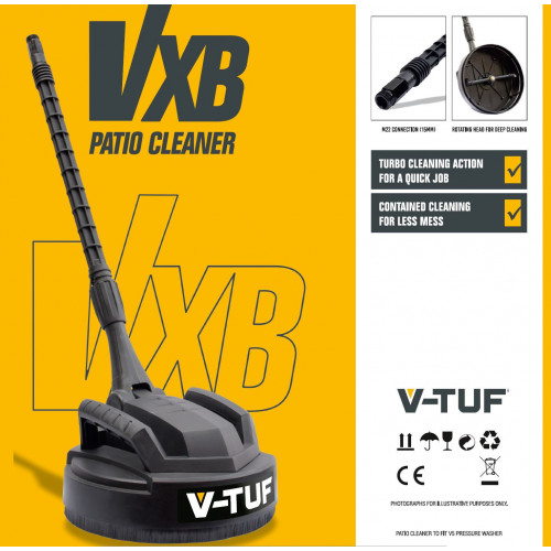 """SURFACE CLEANER - 11"""" 280mm V-TUF VXB PATIO CLEANER with DEEP CLEAN JETS for V5 PRESSURE WASHER - VXB"""