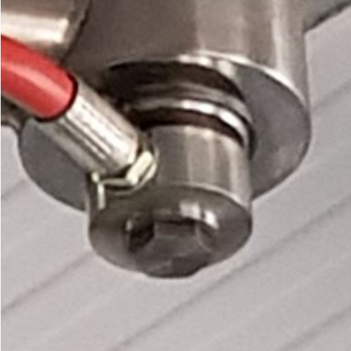SWIVEL HIGH PRESSURE STAINLESS STEEL 90° 1/4M x F