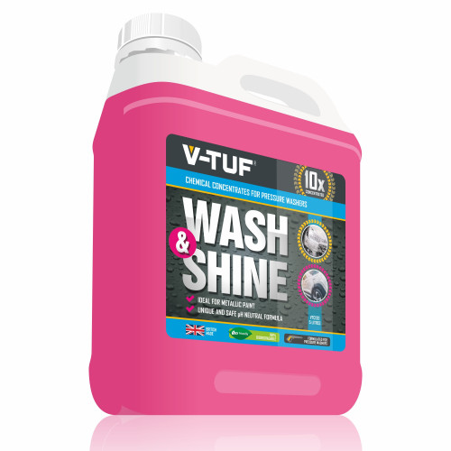 V-TUF 5L  WASH & SHINE RETAINER (PINK) - NONCAUSTIC - 10X CONCENTRATED - 100% BIODEGRADABLE