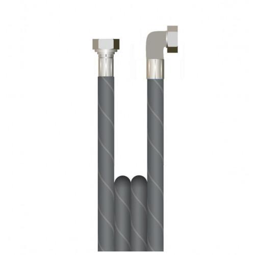 "500mm 1 WIRE, 3/8"" 155°C  V-TUF BLACK JETWASH with 3/8""F x 3/8""F 90 COMPACT BSP NO Cuffs"