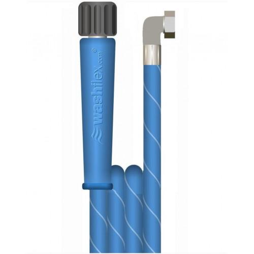 """30m 2w 1/4 BLUE V-TUF HOSE M22Fx3/8""""F 90ºS One Cuff"""