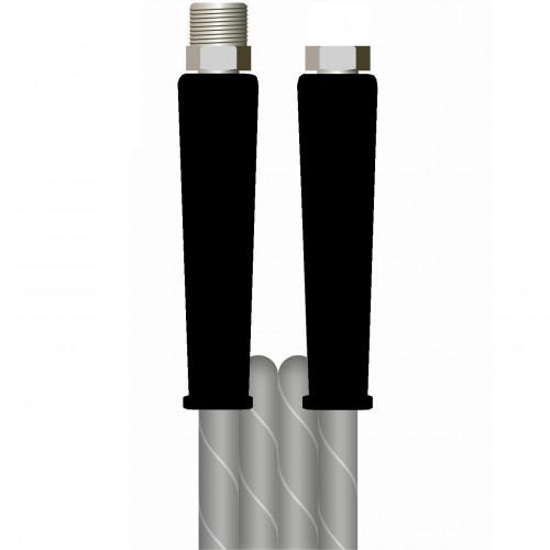10m 2w 5/16 GREY V-TUF HOSE 3/8M x 3/8F BLACK cuffs