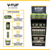 V-TUF Combat Wipes Retail Display Stand - AntiViral Wipes & Blasts Included